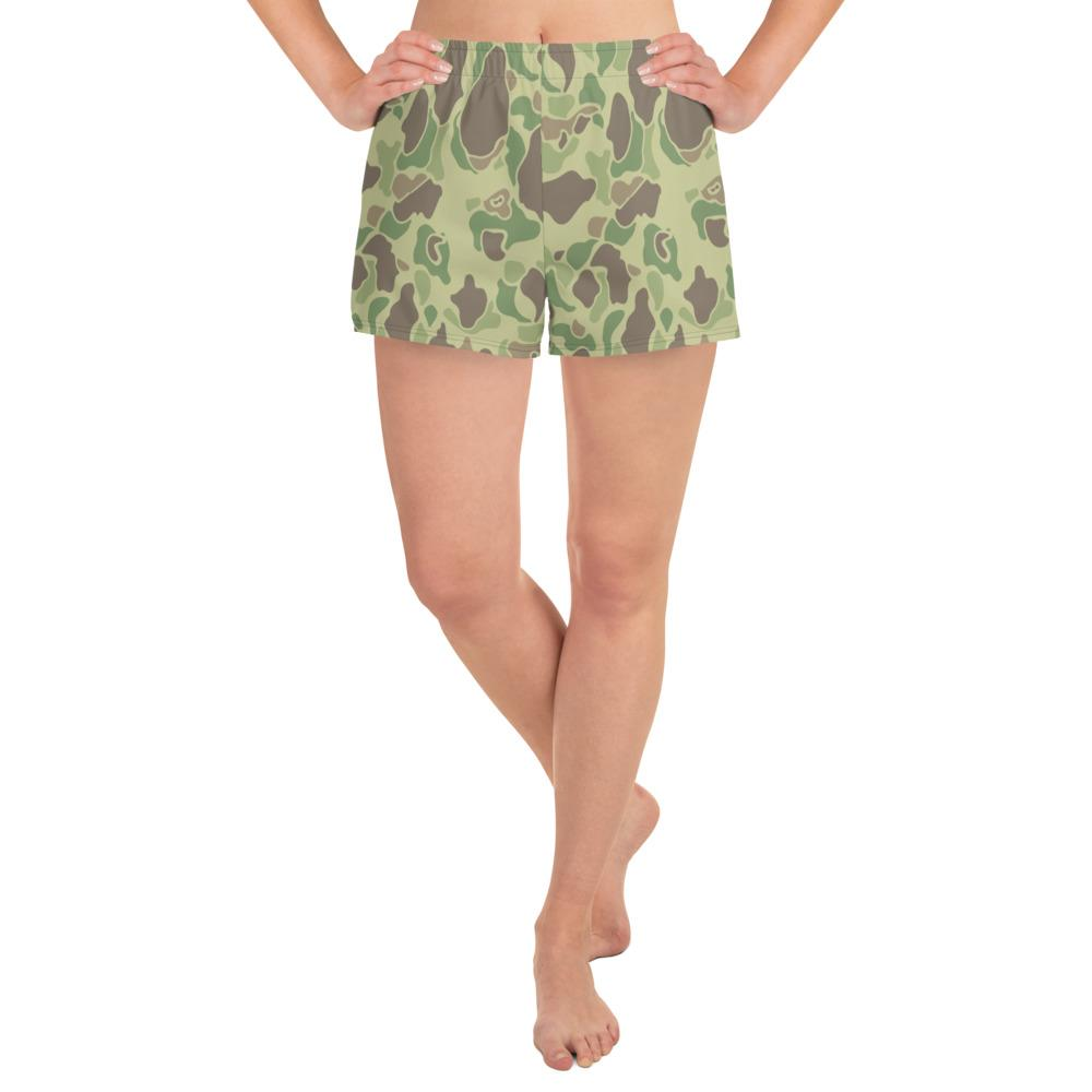 US WWII Duck Hunter Summer Camouflage Women's Athletic Short Shorts