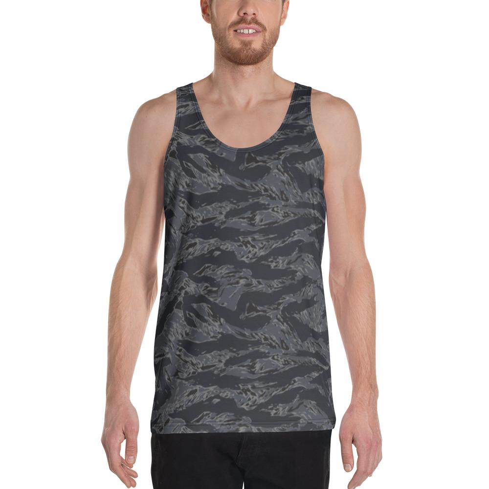 US NAVY Blue Tiger Stripes Camouflage Men's Tank Top