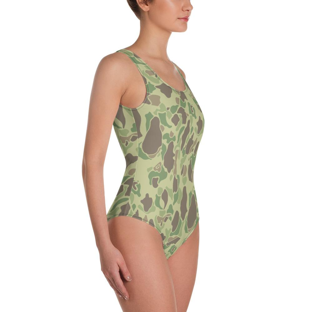 US WWII Duck Hunter Summer Camouflage One-Piece Swimsuit