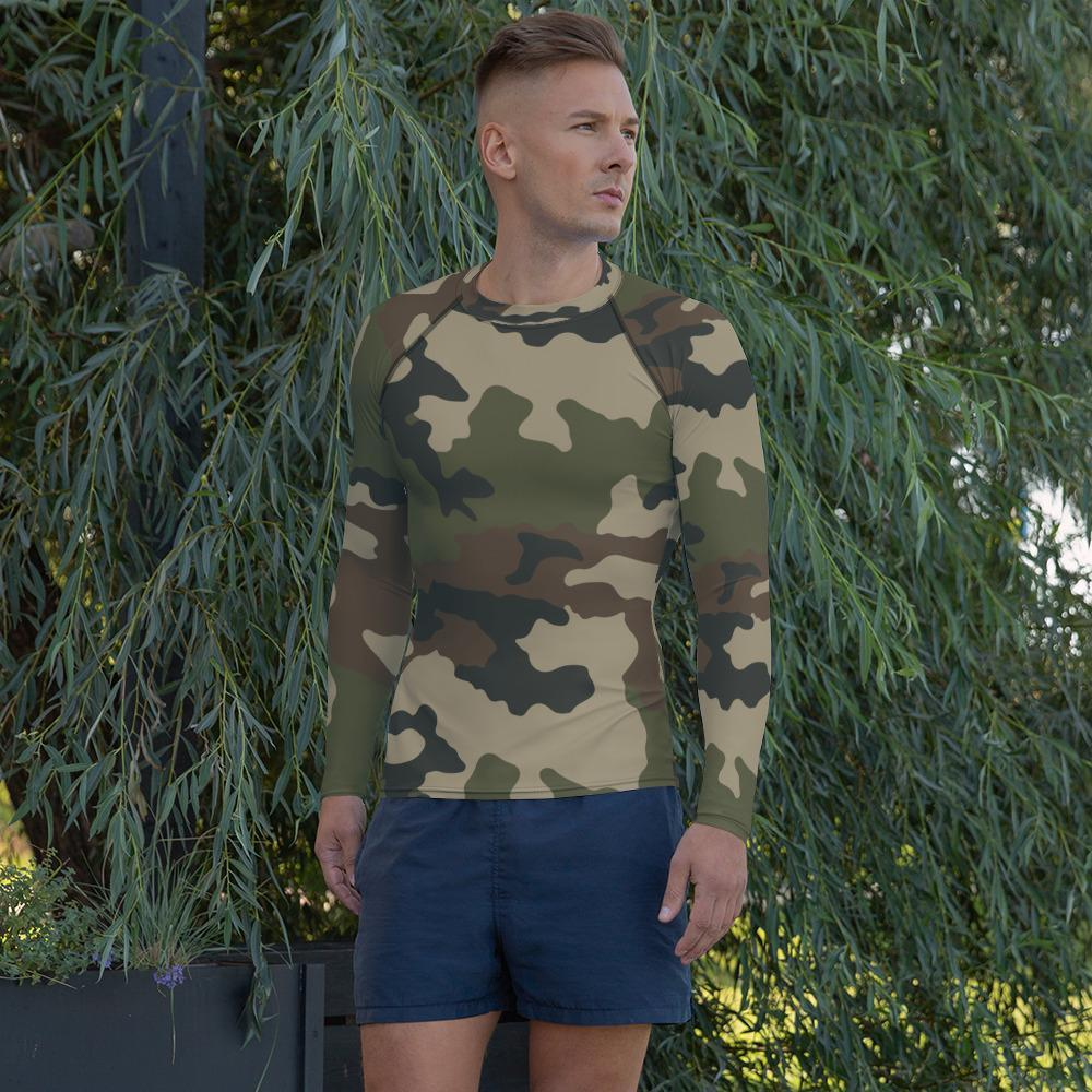 French CCE Centre Europe Camouflage Men's Rash Guard