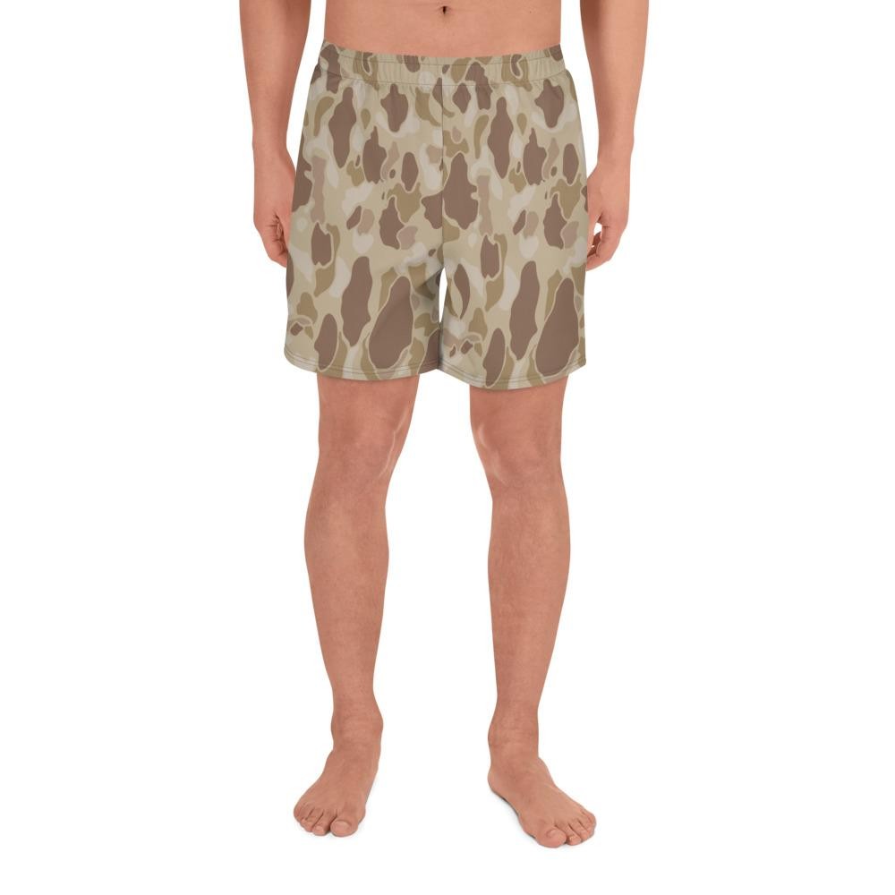 US WWII Duck Hunter Autumn Camouflage Men's Athletic Long Shorts