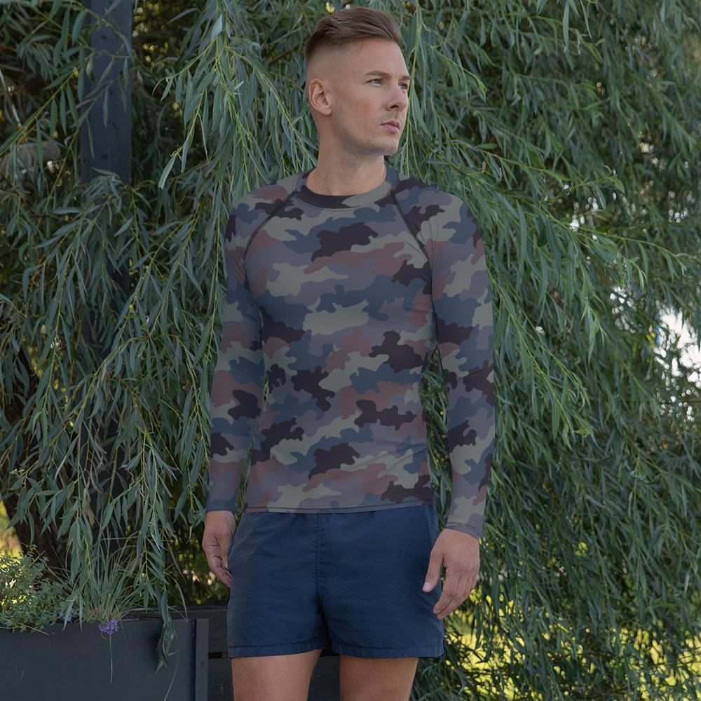 Yugoslav Hrastov List Urban Camouflage Men's Rash Guard