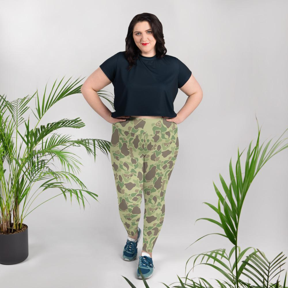 US WWII Duck Hunter summer Camouflage Plus Size Leggings
