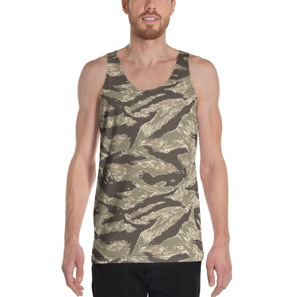 US Desert Tiger Stripes Camouflage Men's Tank Top