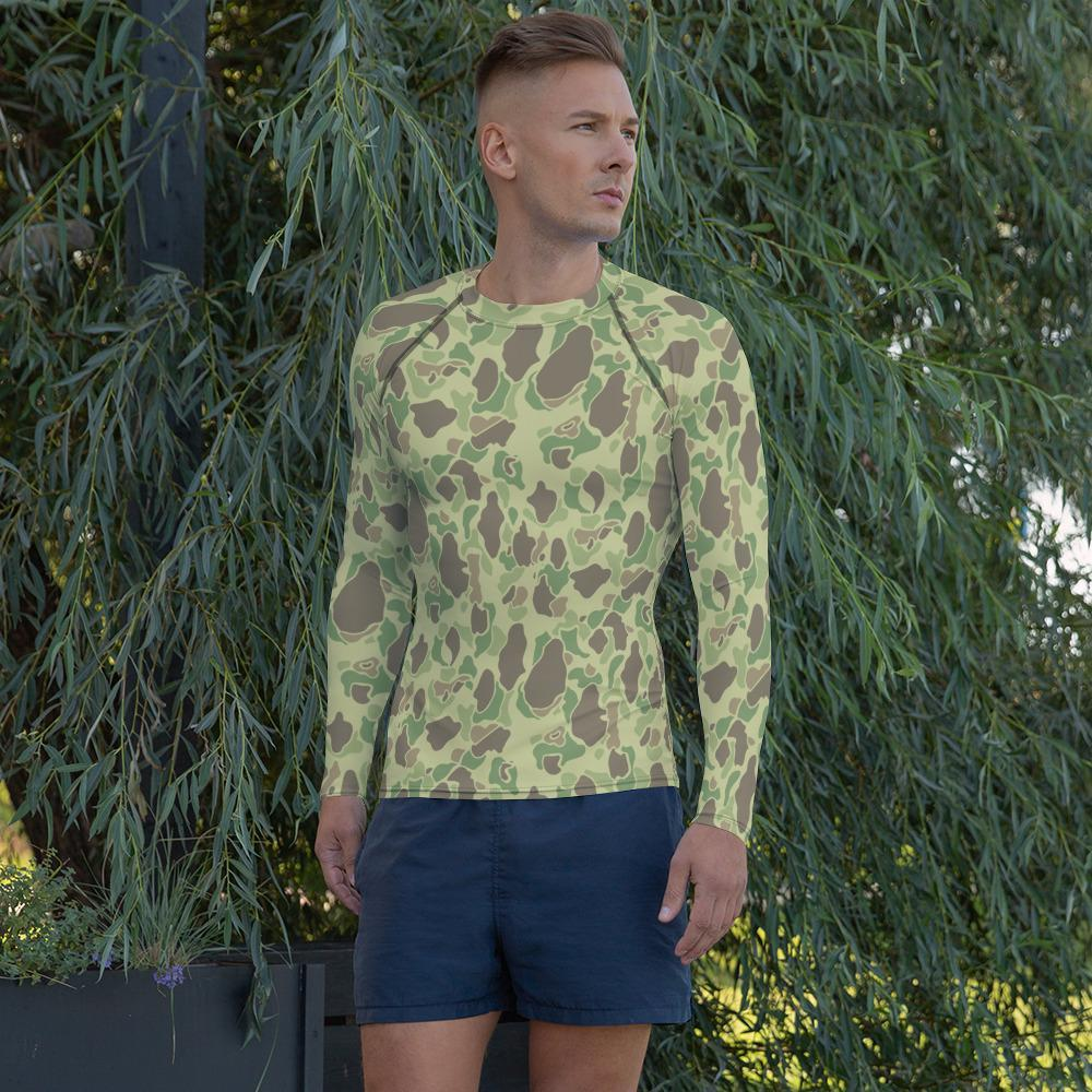 WWII US Duck Hunter summer Camouflage Men's Rash Guard