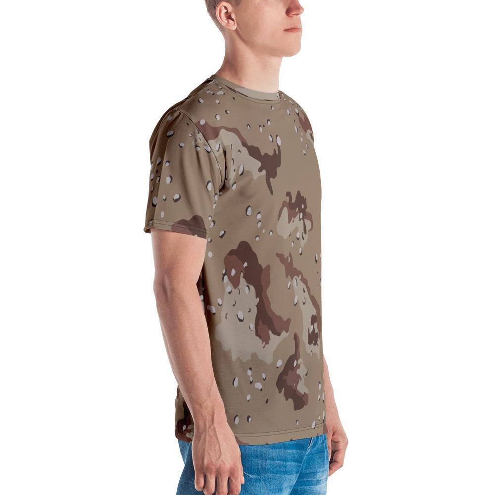 US Desert Shield / Strike Chocolate chip Camouflage Men's Crew Neck T-Shirt