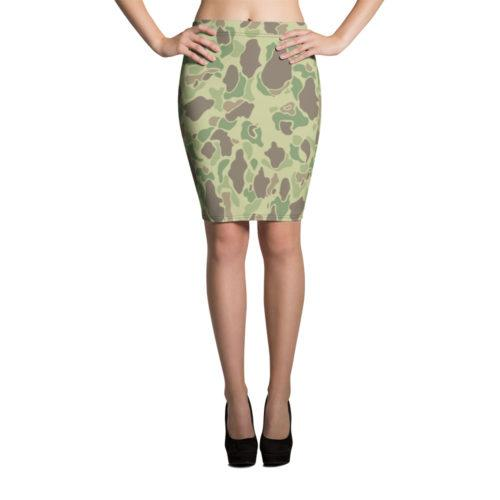US WWII Duck Hunter Summer Camouflage Pencil Skirt