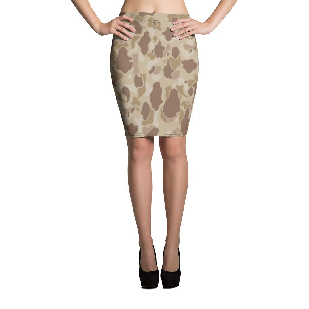 US WWII Duck Hunter Autumn Camouflage Pencil Skirt