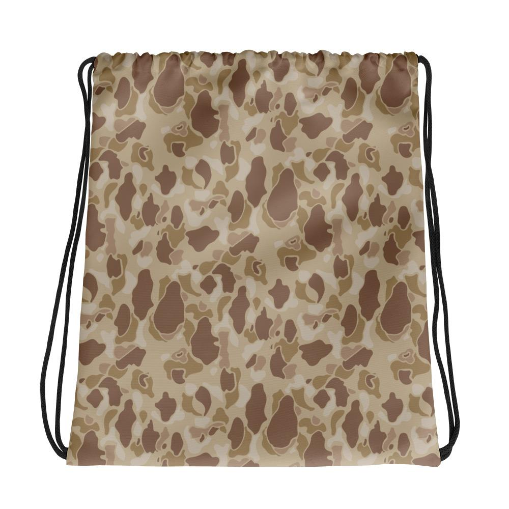 US WWII Duck Hunter Autumn Camouflage Drawstring Bag
