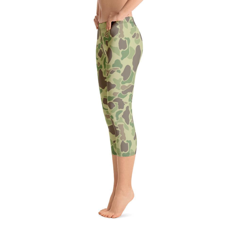 US WWII Duck Hunter summer Camouflage Capri Leggings