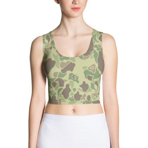 US WWII Duck Hunter Summer Camouflage Crop Top