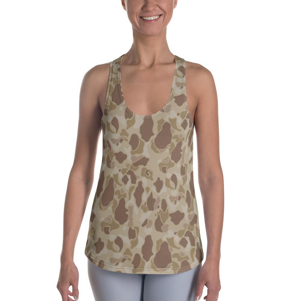 US WWII Duck Hunter Autumn Camouflage Women's Racerback Tank Top