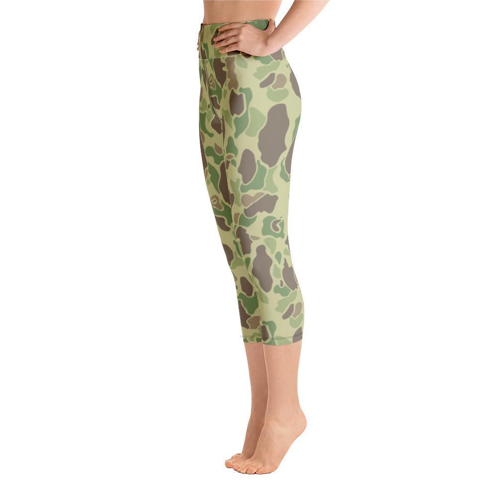 US WWII Duck Hunter summer Camouflage Yoga Capri Leggings