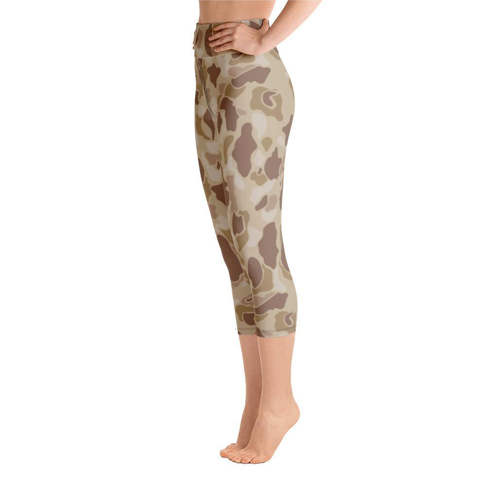 US WWII Duck Hunter Autumn Camouflage Yoga Capri Leggings