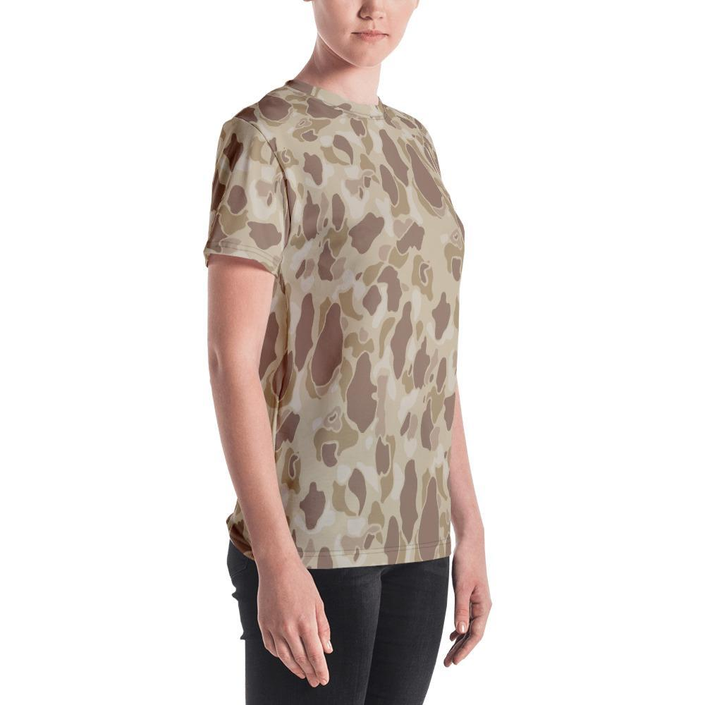 US WWII Duck Hunter Autumn Camouflage Women's Crew Neck T-Shirt