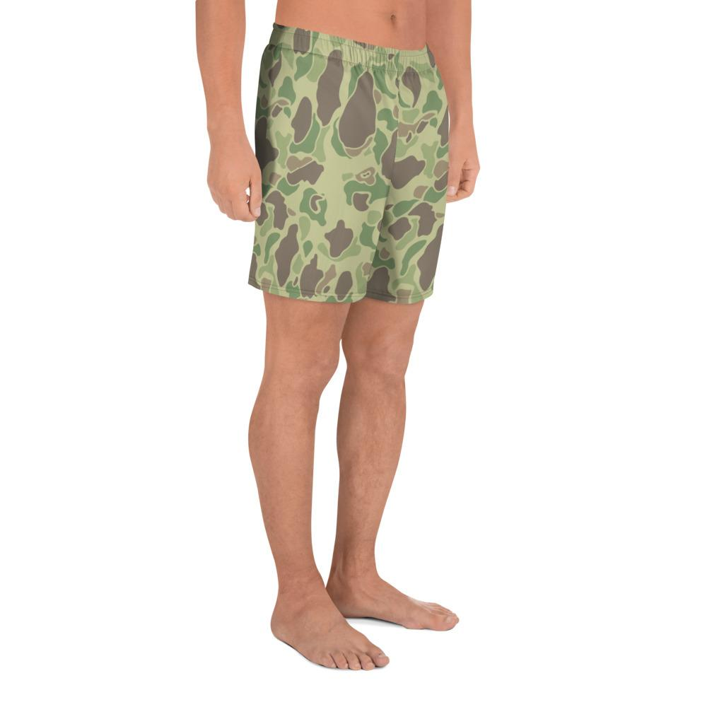 US WWII Duck Hunter summer Camouflage Men's Athletic Long Shorts