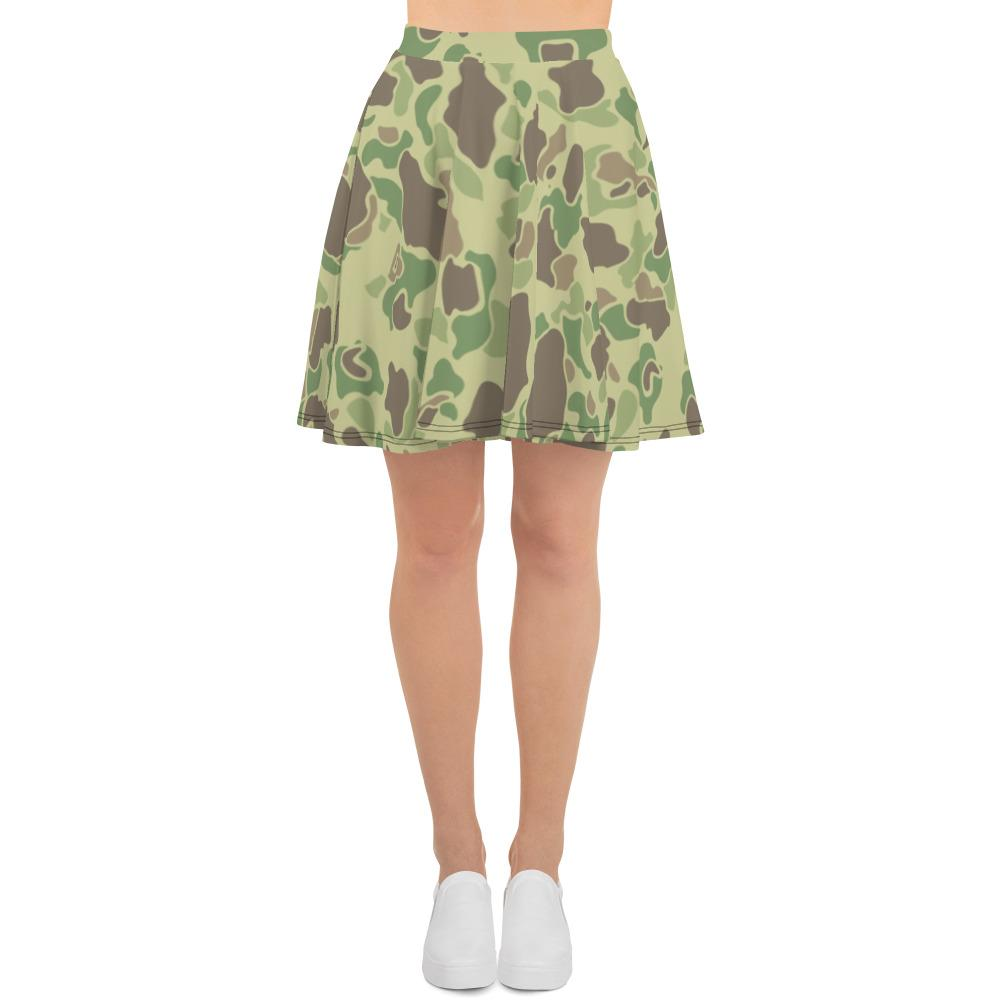 US WWII Duck Hunter Summer Camouflage Skater Skirt