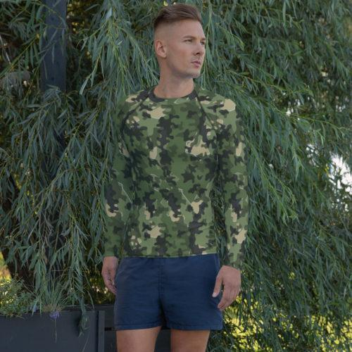 German Zelttarnmuster Summer Camouflage Men's Rash Guard
