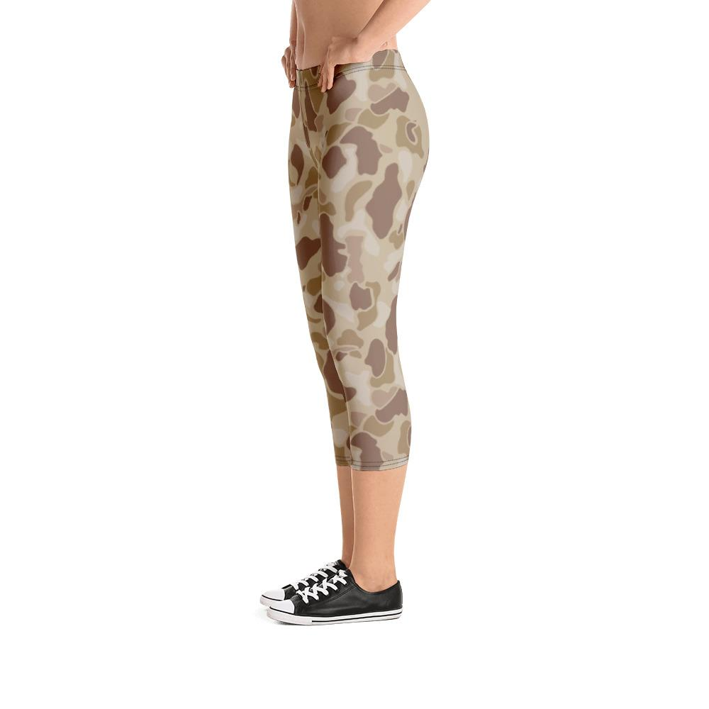 US WWII Duck Hunter Autumn Camouflage Capri Leggings