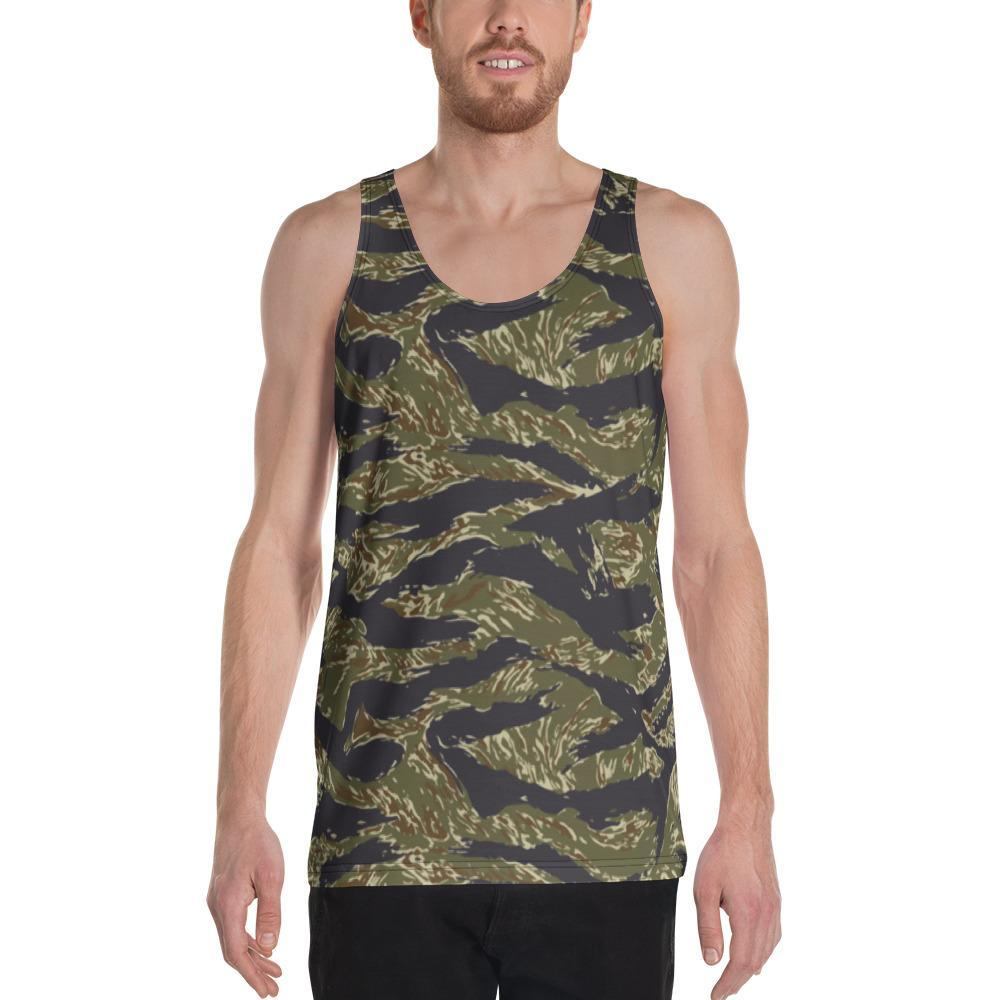 US Jungle Tiger Stripes Camouflage Men's Tank Top