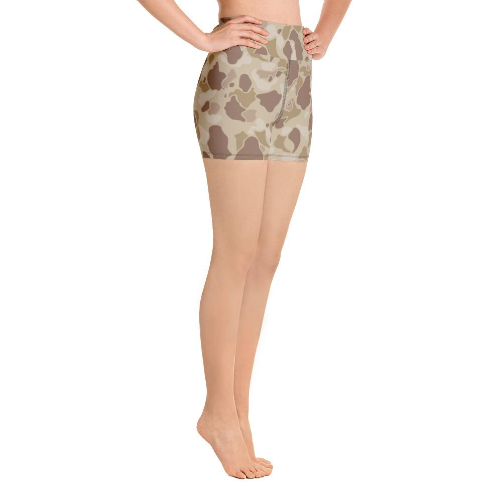 US WWII Duck Hunter Autumn Camouflage Yoga Shorts