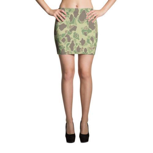 US WWII Duck Hunter Summer Camouflage Mini Skirt