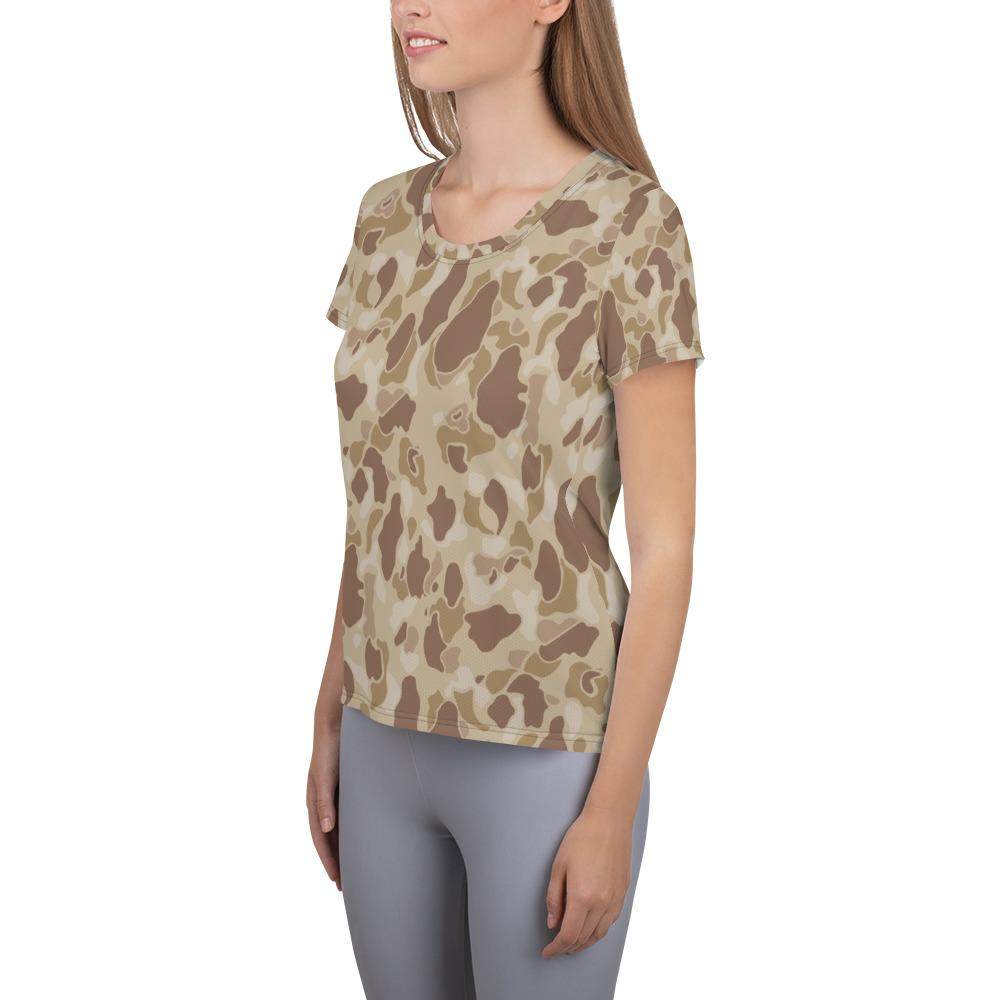 US WWII Duck Hunter Autumn Camouflage Women's Athletic T-Shirt