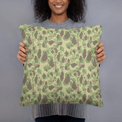 US WWII Duck Hunter Summer Camouflage Basic Pillow Case w/ stuffing