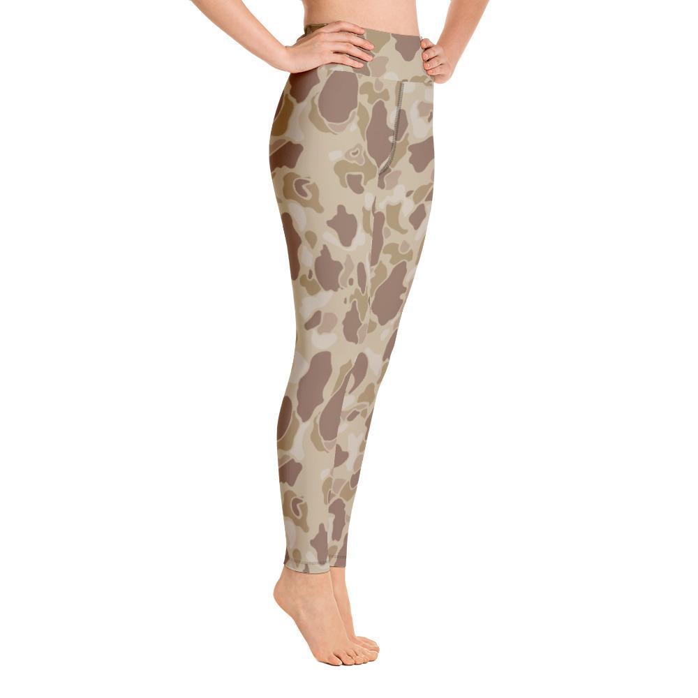 US WWII Duck Hunter Autumn Camouflage Yoga Leggings