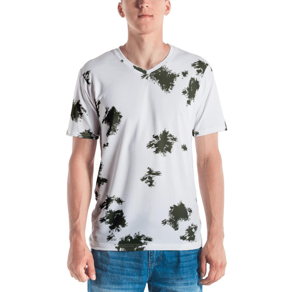 German Schneetarn Camouflage Men's V-Neck T-shirt