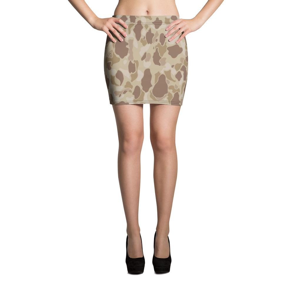 US WWII Duck Hunter Autumn Camouflage Mini Skirt