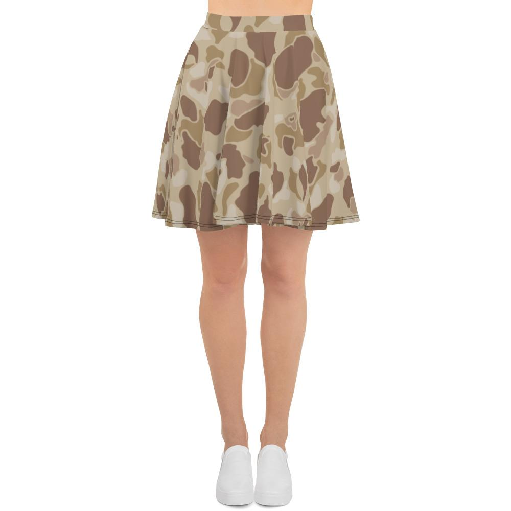 US WWII Duck Hunter Autumn Camouflage Skater Skirt