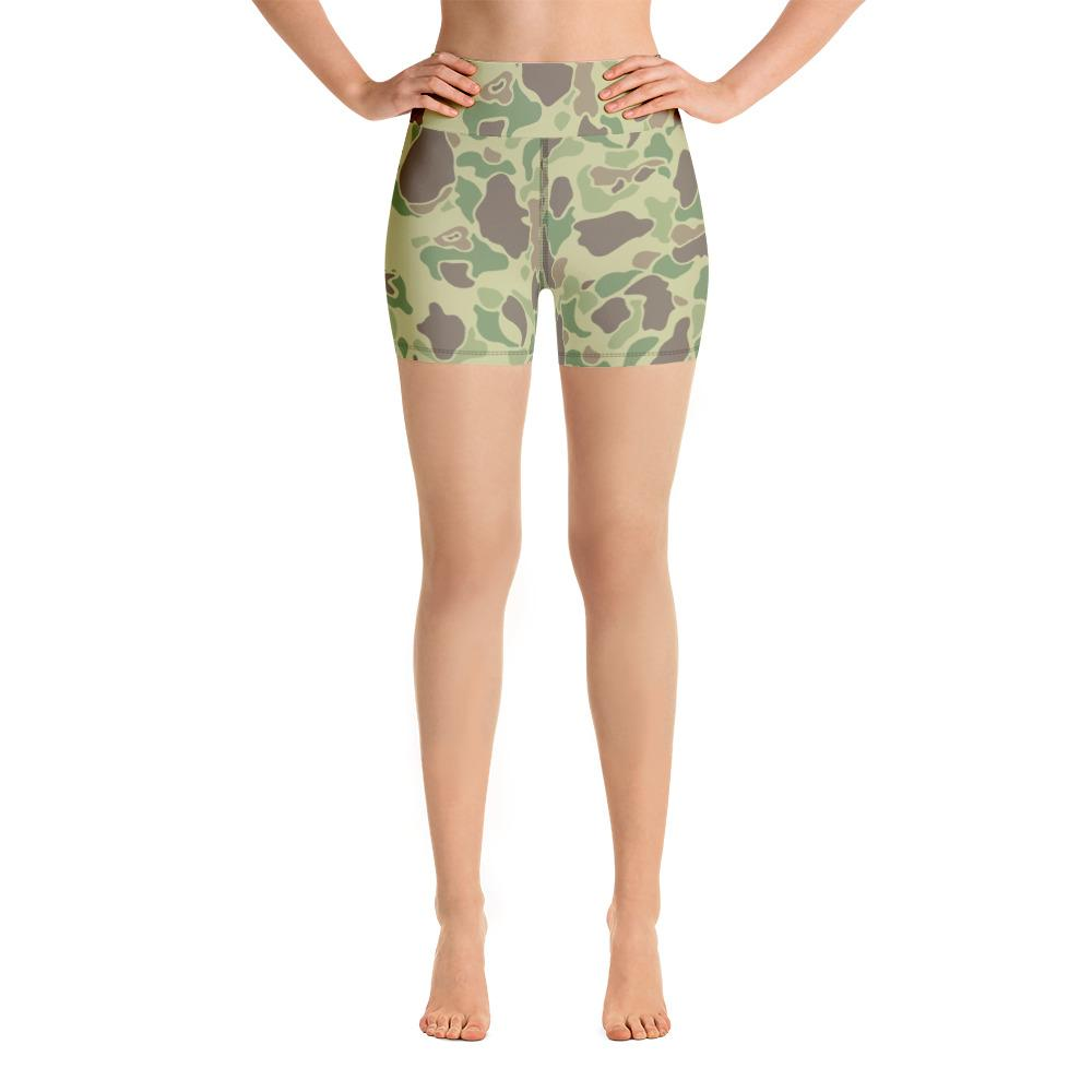 US WWII Duck Hunter summer Camouflage Yoga Shorts