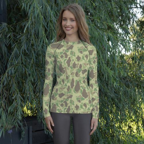 US WWII Duck Hunter Summer Camouflage Women's Rash Guard