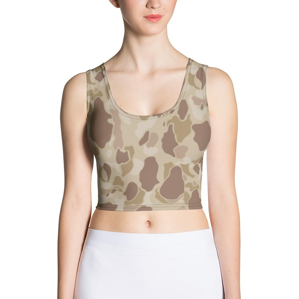 US WWII Duck Hunter Autumn Camouflage Crop Top