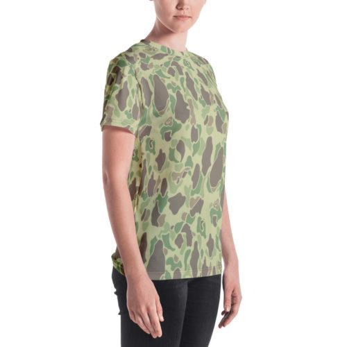 US WWII Duck Hunter Summer Camouflage Women's Crew Neck T-Shirt