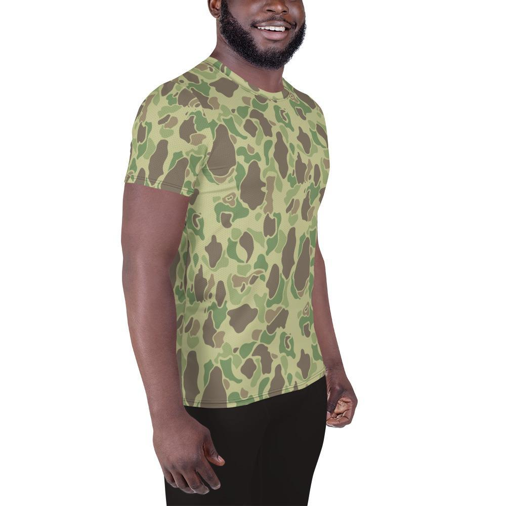 US WWII Duck Hunter summer Camouflage Men's Athletic T-Shirt