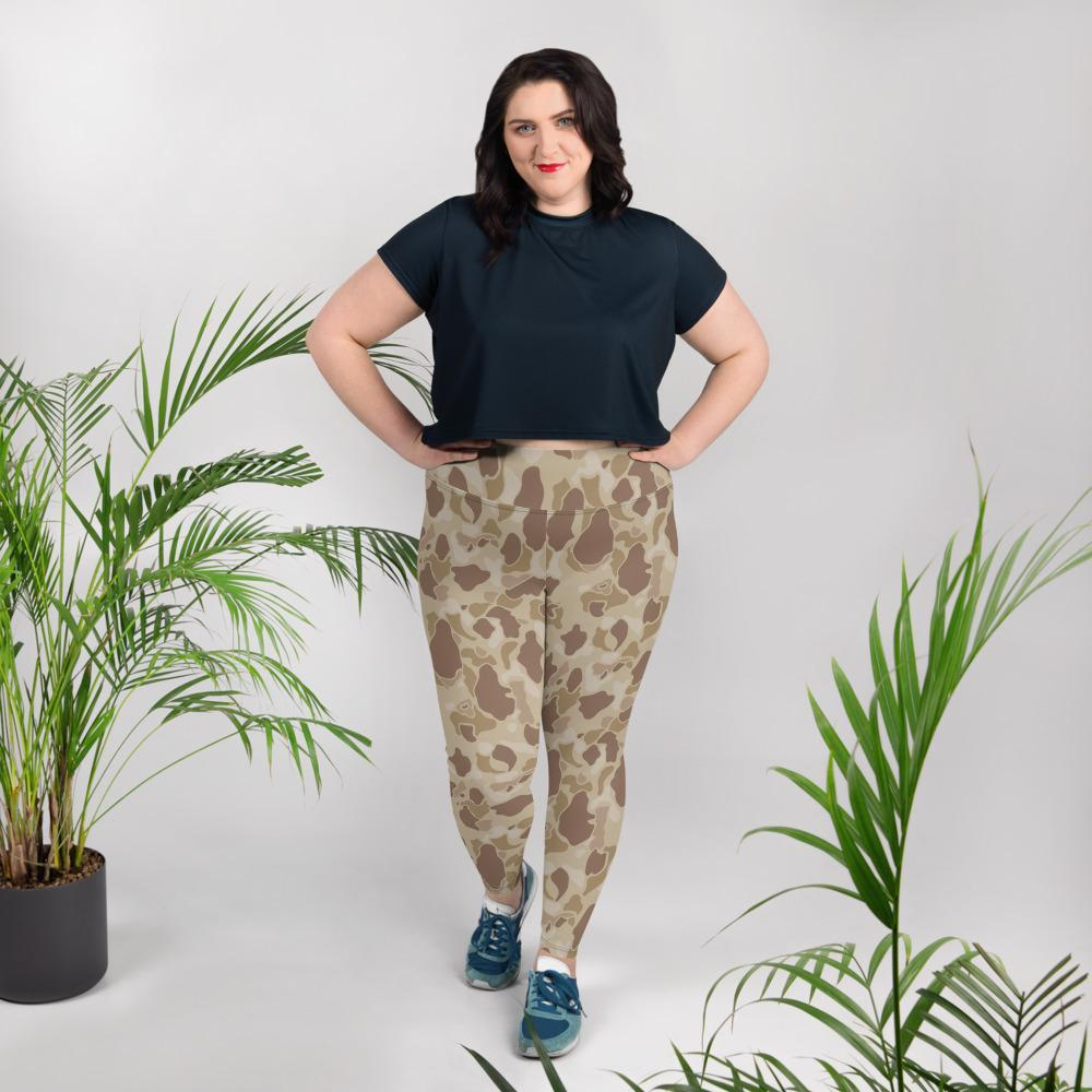 US WWII Duck Hunter Autumn Camouflage Plus Size Leggings