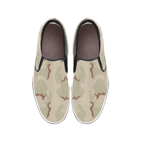 US 3 color desert camouflage Men's Classic Slip-On Sneakers .