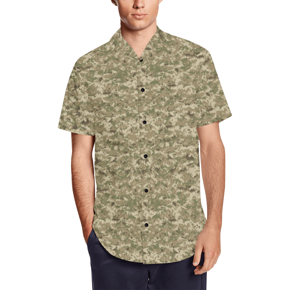 AOR UNIVERSAL camouflage Men's Short Sleeve Shirt