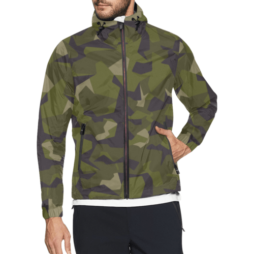 Swedish M90 woodland Camouflage Windbreaker for Men