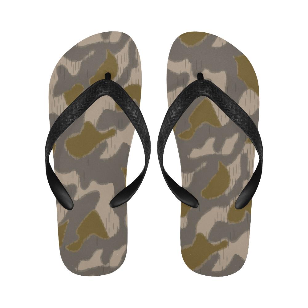Austrian Sumpfmuster early steintarn camouflage Flip Flops for Men/Women Free Shipping