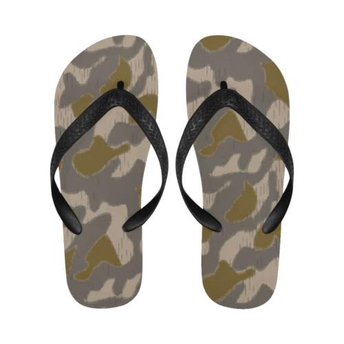 Austrian Sumpfmuster early steintarn camouflage Flip Flops for Men/Women Free Shipping