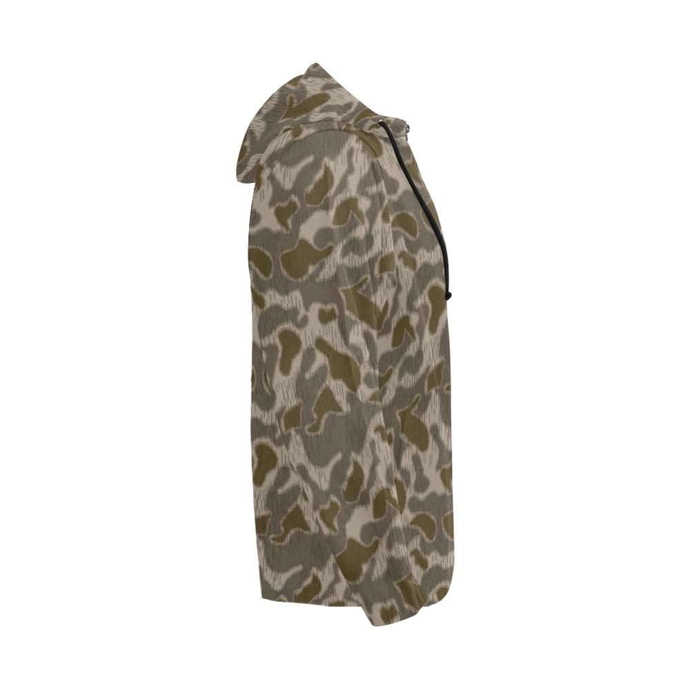 Austrian Sumpfmuster late steintarn camouflage Full Zip Hoodie for Men