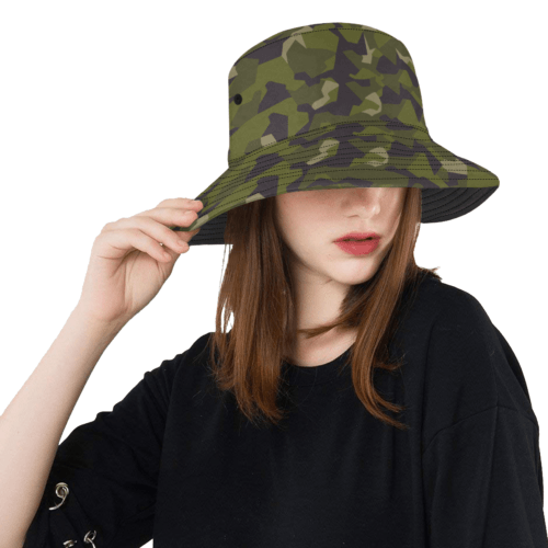 swedish M90 woodland camouflage  Bucket Hat