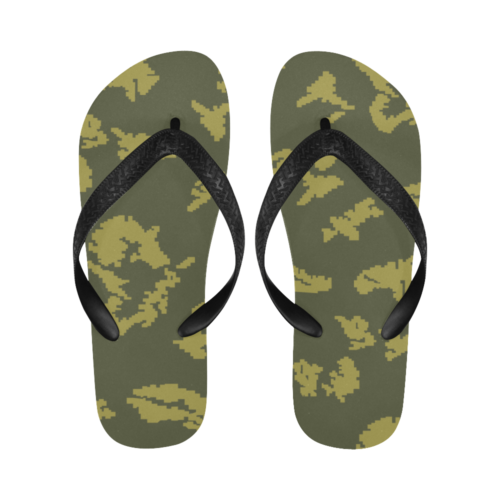 Berehzke KMLK yellow leaf Flip Flops for Men/Women Free Shipping