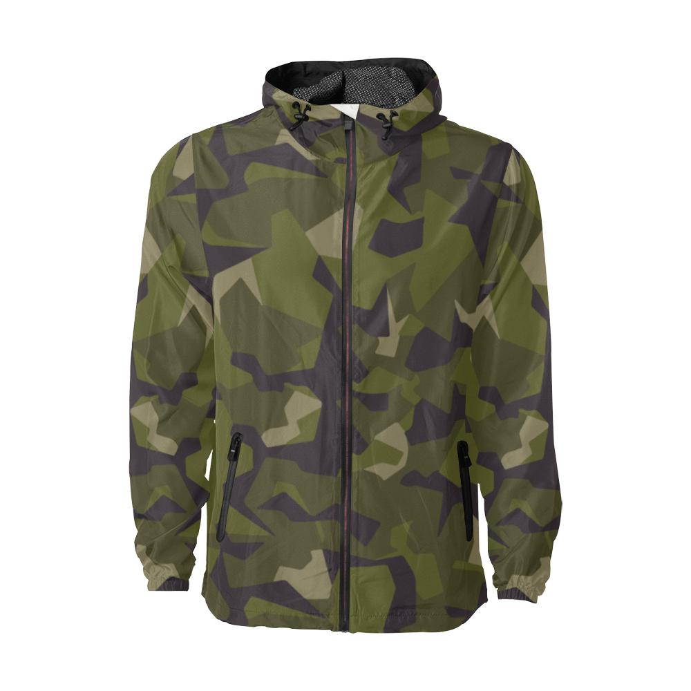 Swedish M90 woodland Camouflage Windbreaker for Men