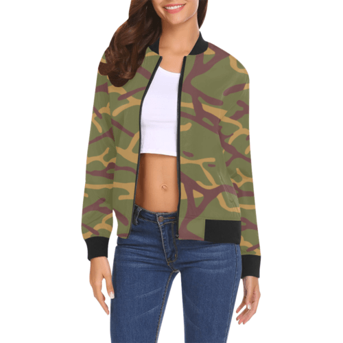 Yugoslav M68 MOL camouflage Bomber Jacket for Women