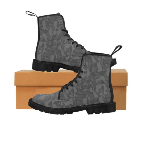 Swedish M90 Night Camouflage Martin Boots for Men (Black)