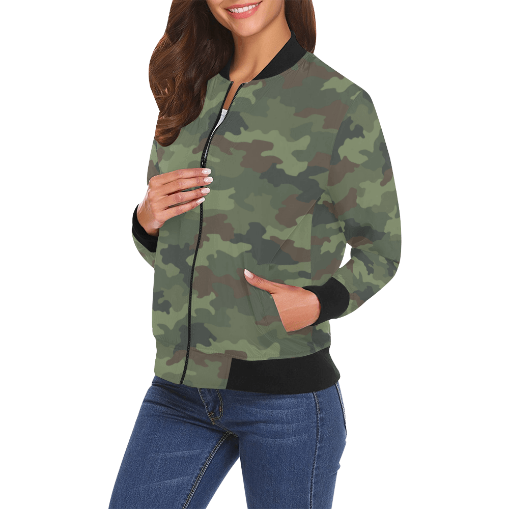 Yugoslav MD89 Hrastov List Camouflage Bomber Jacket for Women